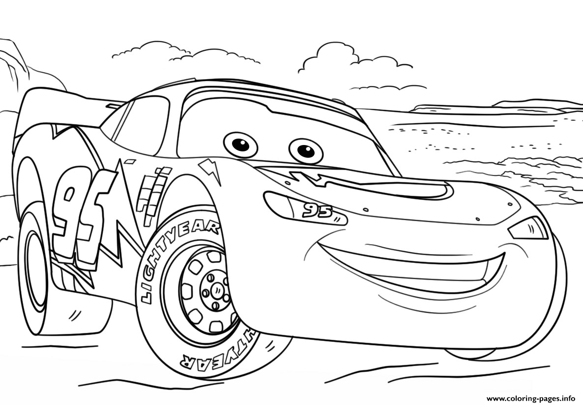 Free Coloring Pages Of Cars 2  Lightning Mcqueen From Cars 3 2 Disney Coloring Pages