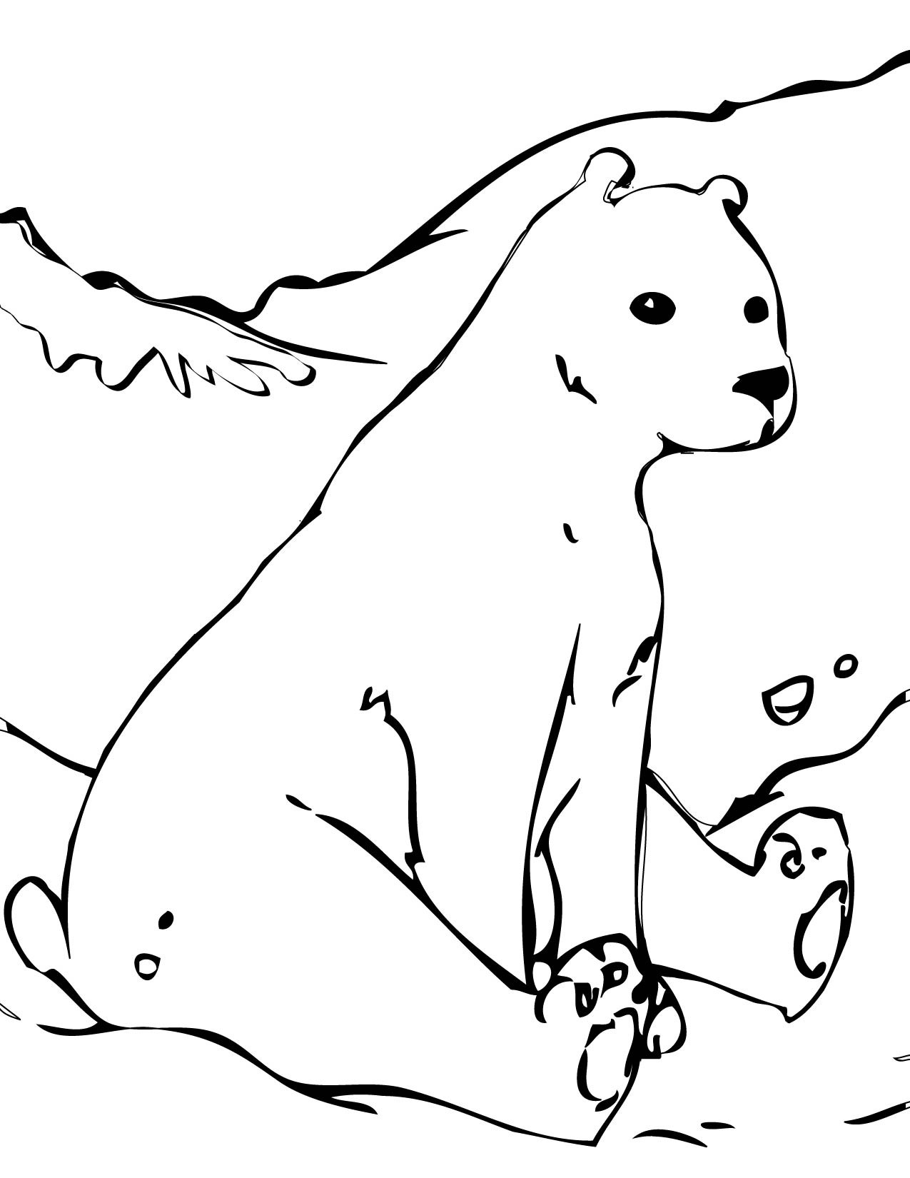 Free Coloring Pages Of Polar Bears  Free Printable Polar Bear Coloring Pages For Kids