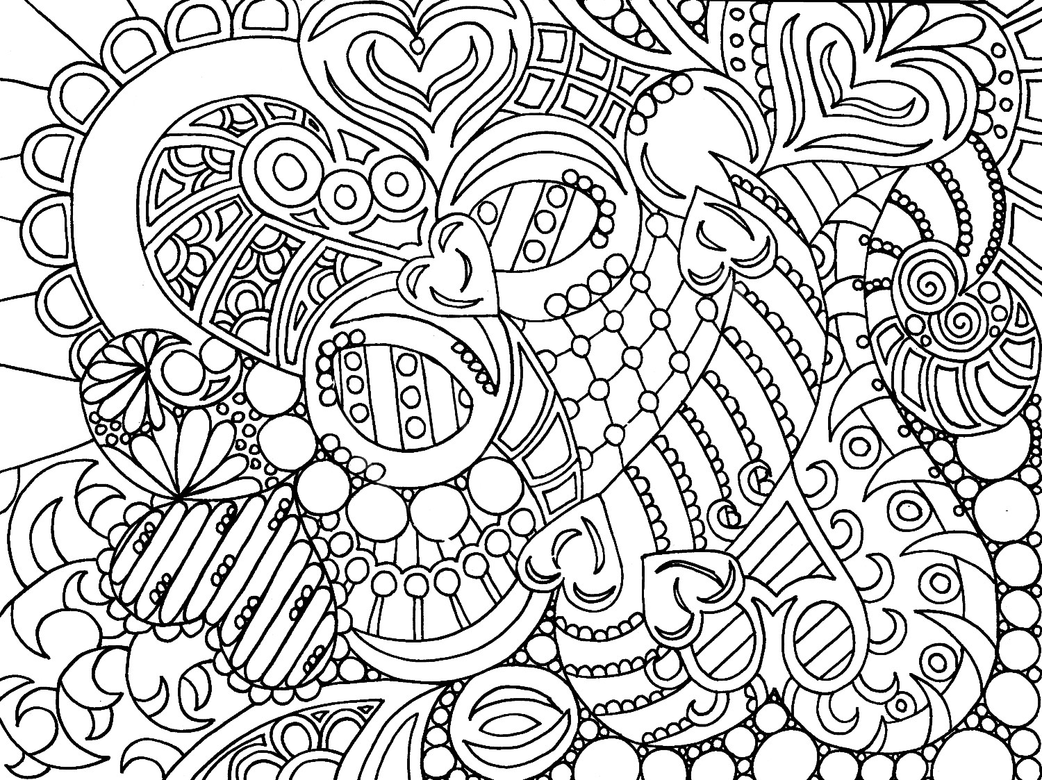 Free Coloring Pages Online Adults  free coloring pages for adults