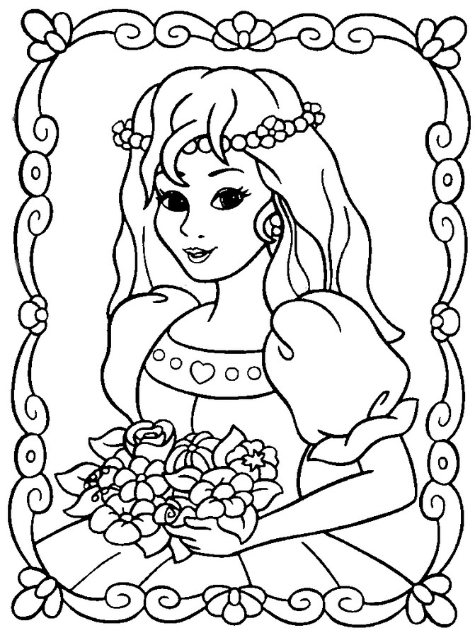 Free Coloring Pages Princesses  Princess Coloring Pages Best Coloring Pages For Kids