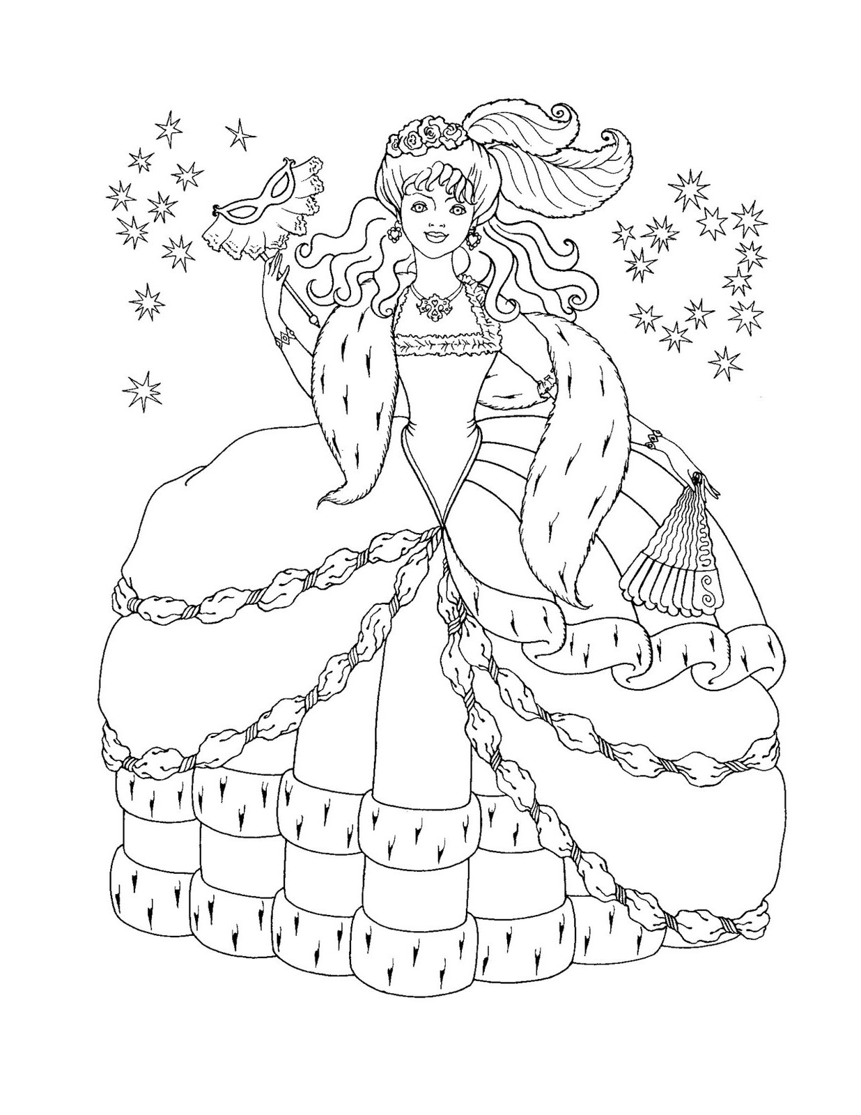 Free Coloring Pages Princesses  Free Printable Disney Princess Coloring Pages For Kids