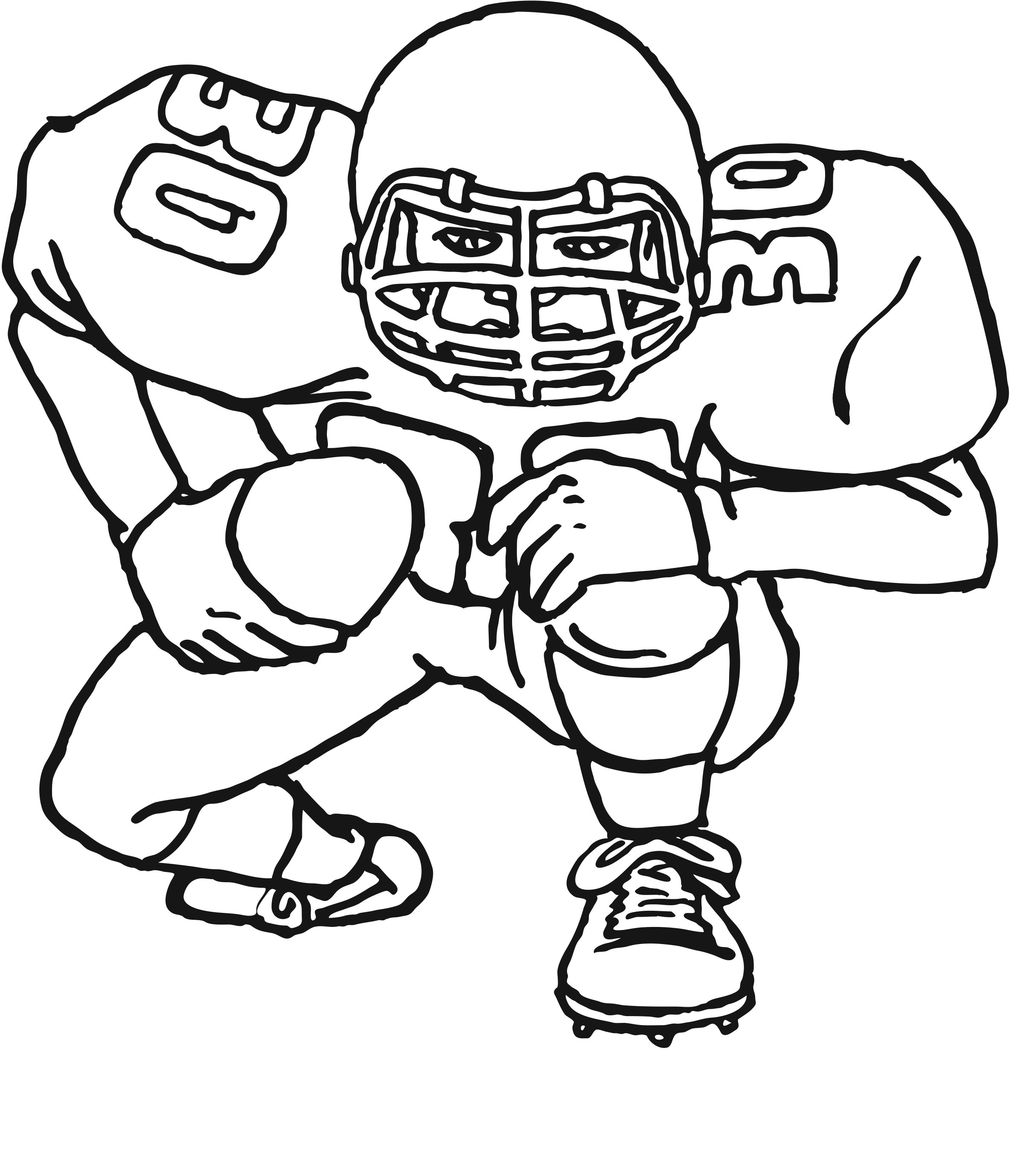 Free Coloring Pages Sports  Free Printable Football Coloring Pages for Kids Best