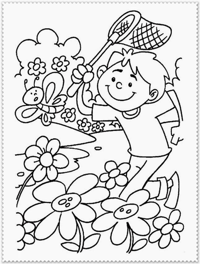 Free Coloring Pages Spring Time  Spring Coloring Pages Printable