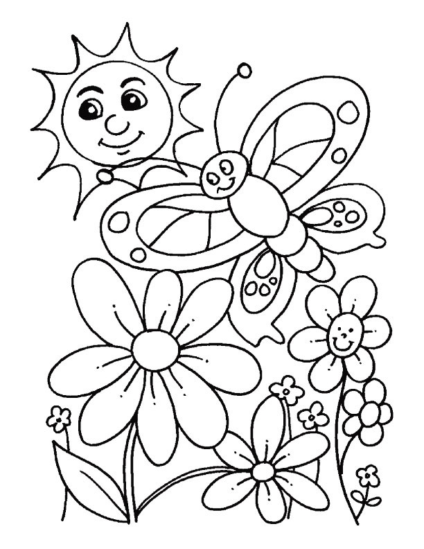 Free Coloring Pages Spring Time  Spring Coloring Pages 2018 Dr Odd