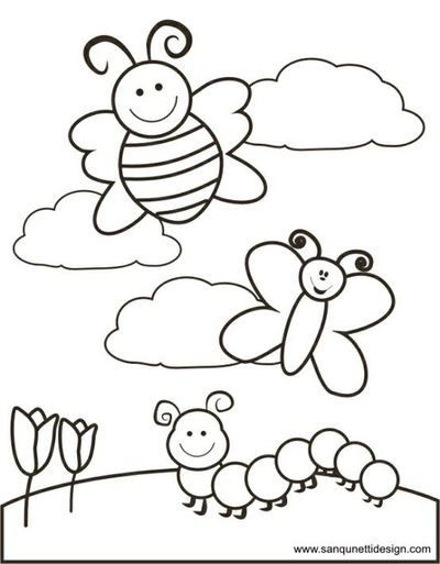 Free Coloring Pages Spring Time  46 Springtime Coloring Pages Free Free Springtime