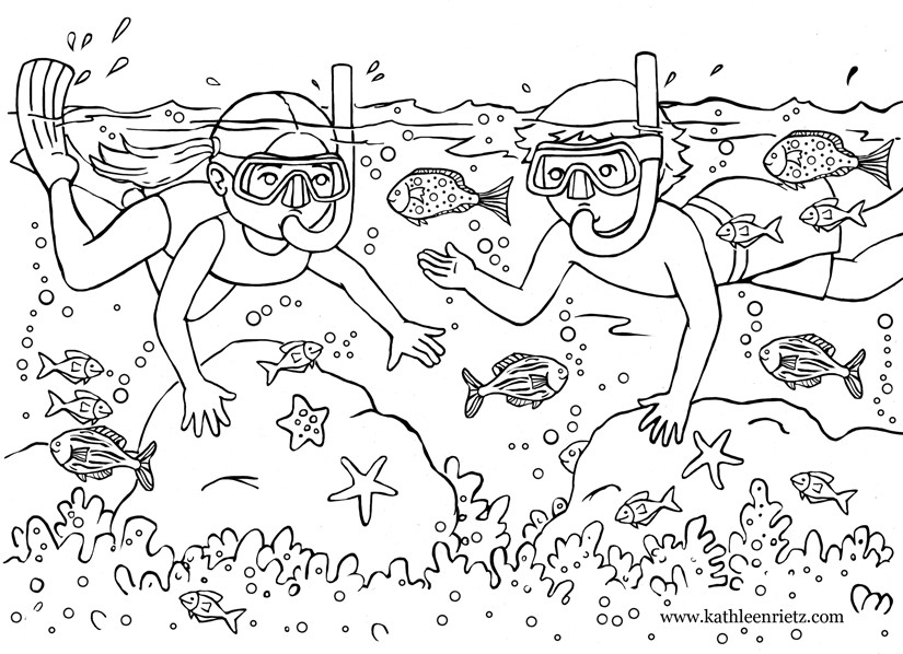 Free Coloring Pages Summer Vacation  Summer Coloring Pages summer vacation coloring pages