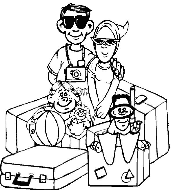 Free Coloring Pages Summer Vacation  Summer Coloring Pages Print Summer to Color at