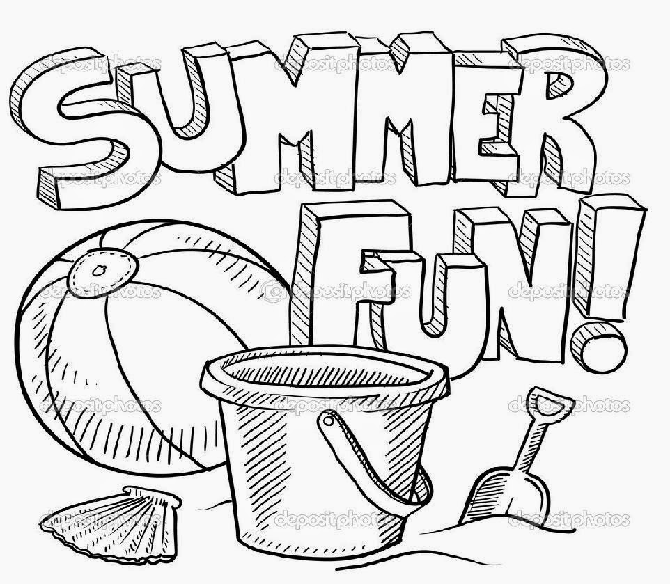 Free Coloring Pages Summer Vacation  Summer Coloring Sheets