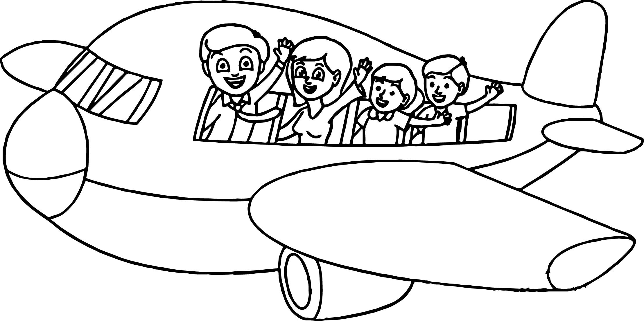Free Coloring Pages Summer Vacation  Summer Vacation Plane Coloring Page
