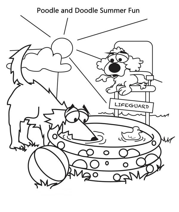 Free Coloring Pages Summer Vacation  Summer Vacation Printable coloring pages for kids