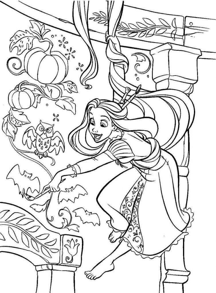 Free Coloring Pages Tangled  Rapunzel Coloring Pages Best Coloring Pages For Kids