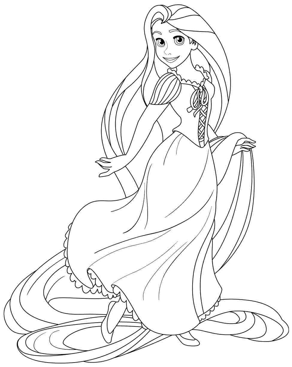 Free Coloring Pages Tangled  rapunzel coloring pages