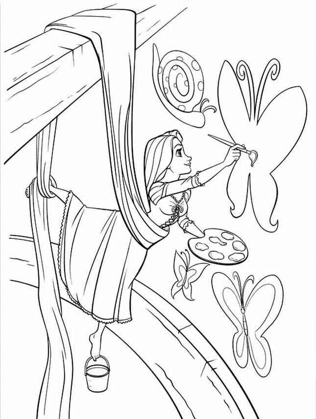 Free Coloring Pages Tangled  Free Printable Tangled Coloring Pages For Kids