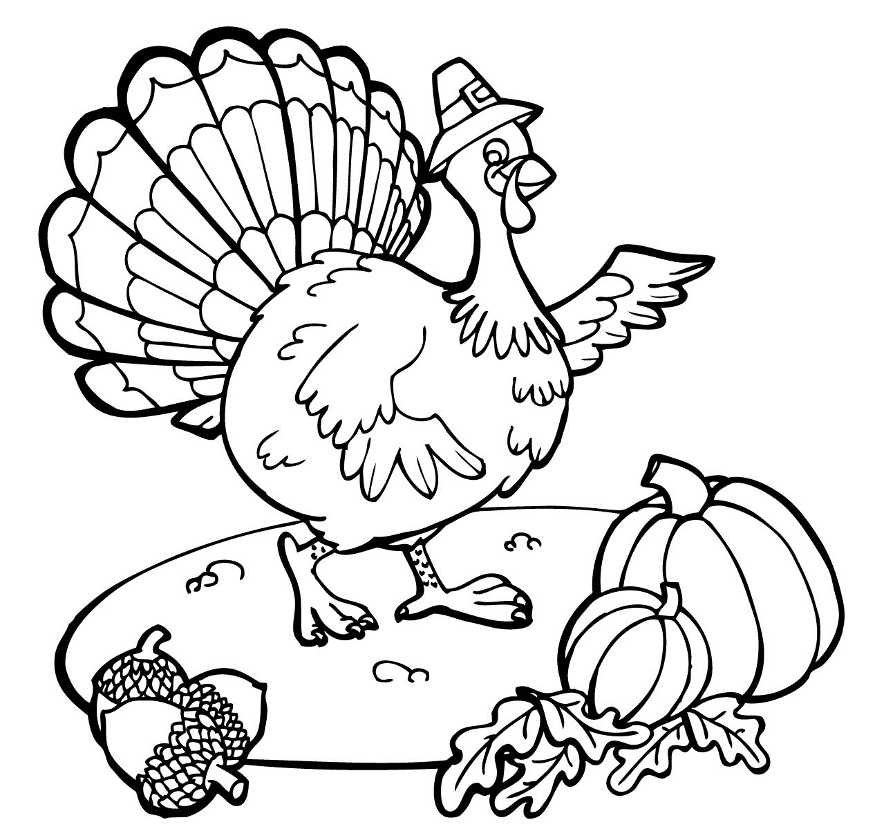 Free Coloring Pages Turkey Thanksgiving  Free Printable Thanksgiving Coloring Pages For Kids