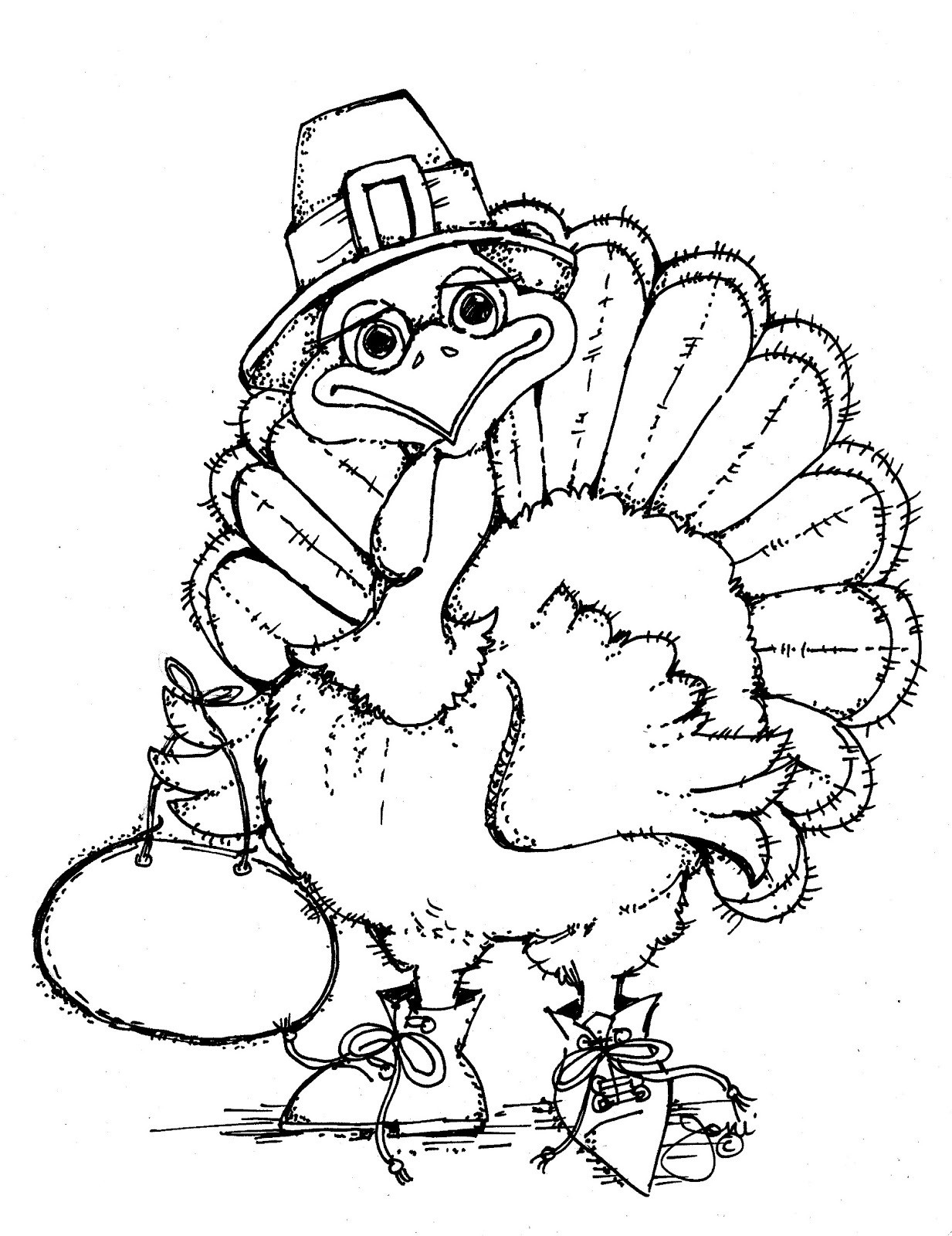 Free Coloring Pages Turkey Thanksgiving  Free Printable Turkey Coloring Pages For Kids