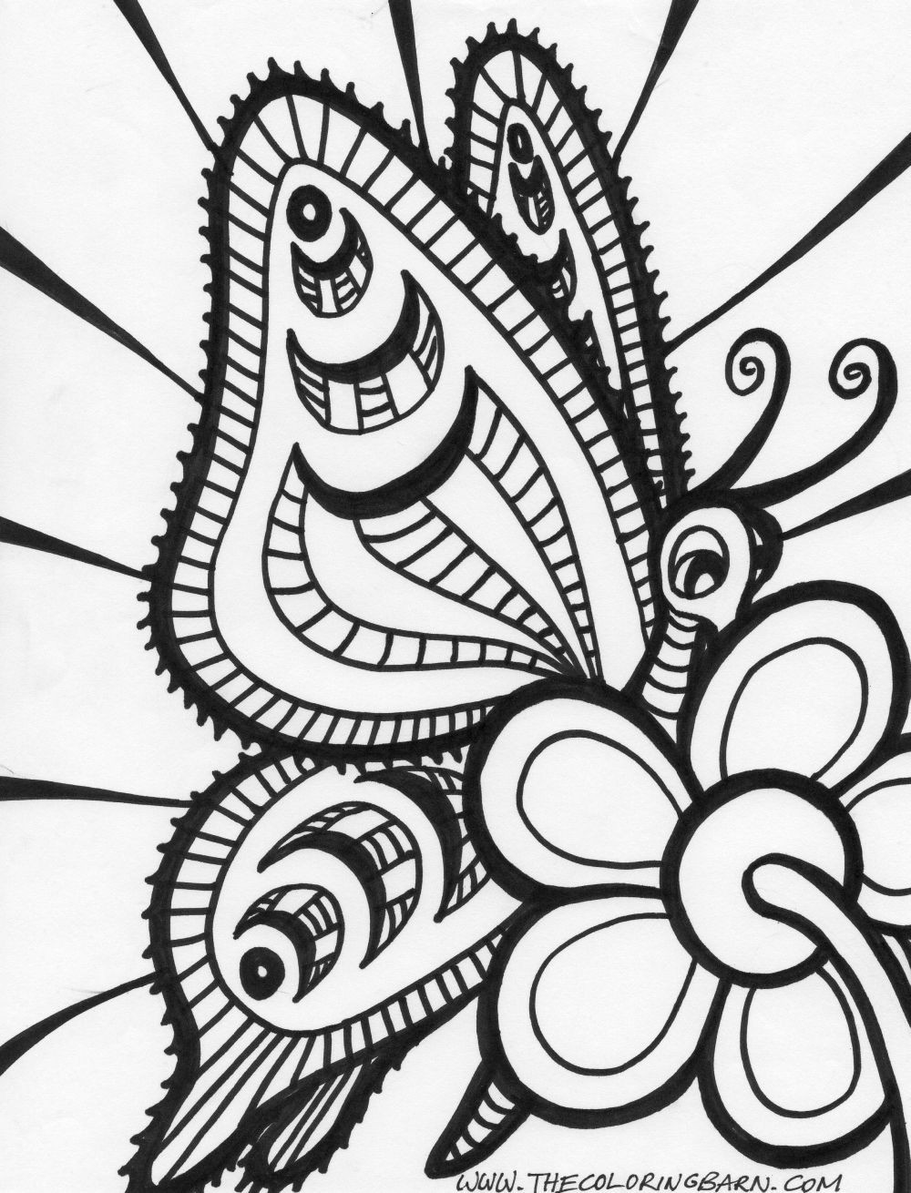 Free Coloring Sheets Adults  Free Printable Abstract Coloring Pages Bestofcoloring