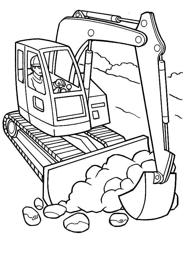 Free Coloring Sheets Construction Trucks  construction trucks free construction coloring pages