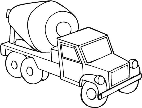 Free Coloring Sheets Construction Trucks  Mixer Truck on Construction Work Coloring Page Mixer