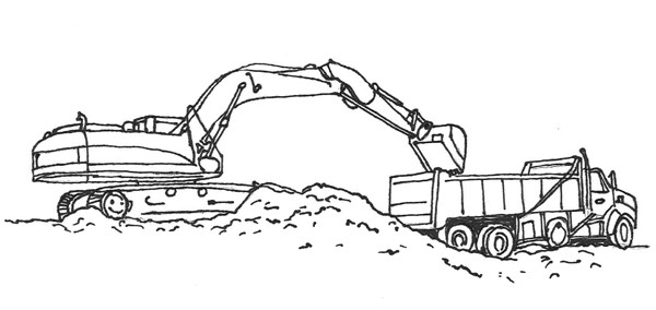 Free Coloring Sheets Construction Trucks  Infrastructure Canada kidfrastructure Colouring Pages