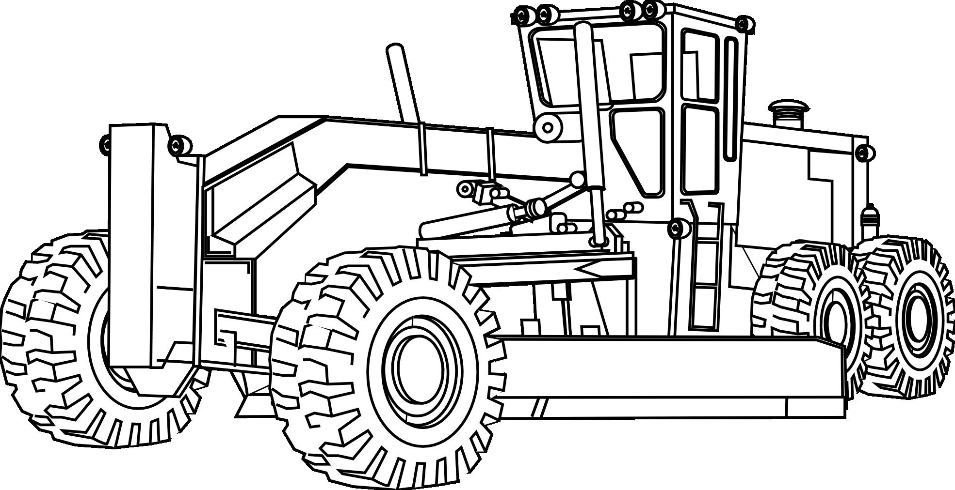 Free Coloring Sheets Construction Trucks  Printable of Construction Equipment