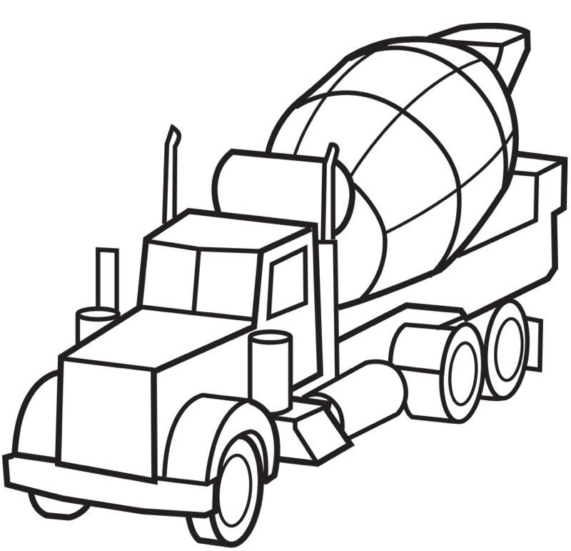 Free Coloring Sheets Construction Trucks  Construction Coloring Pages AZ Coloring Pages