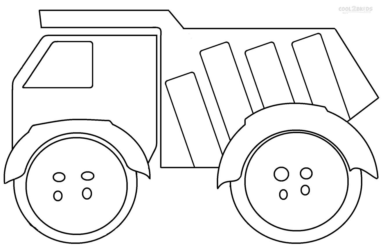 Free Coloring Sheets Construction Trucks  Printable Dump Truck Coloring Pages For Kids