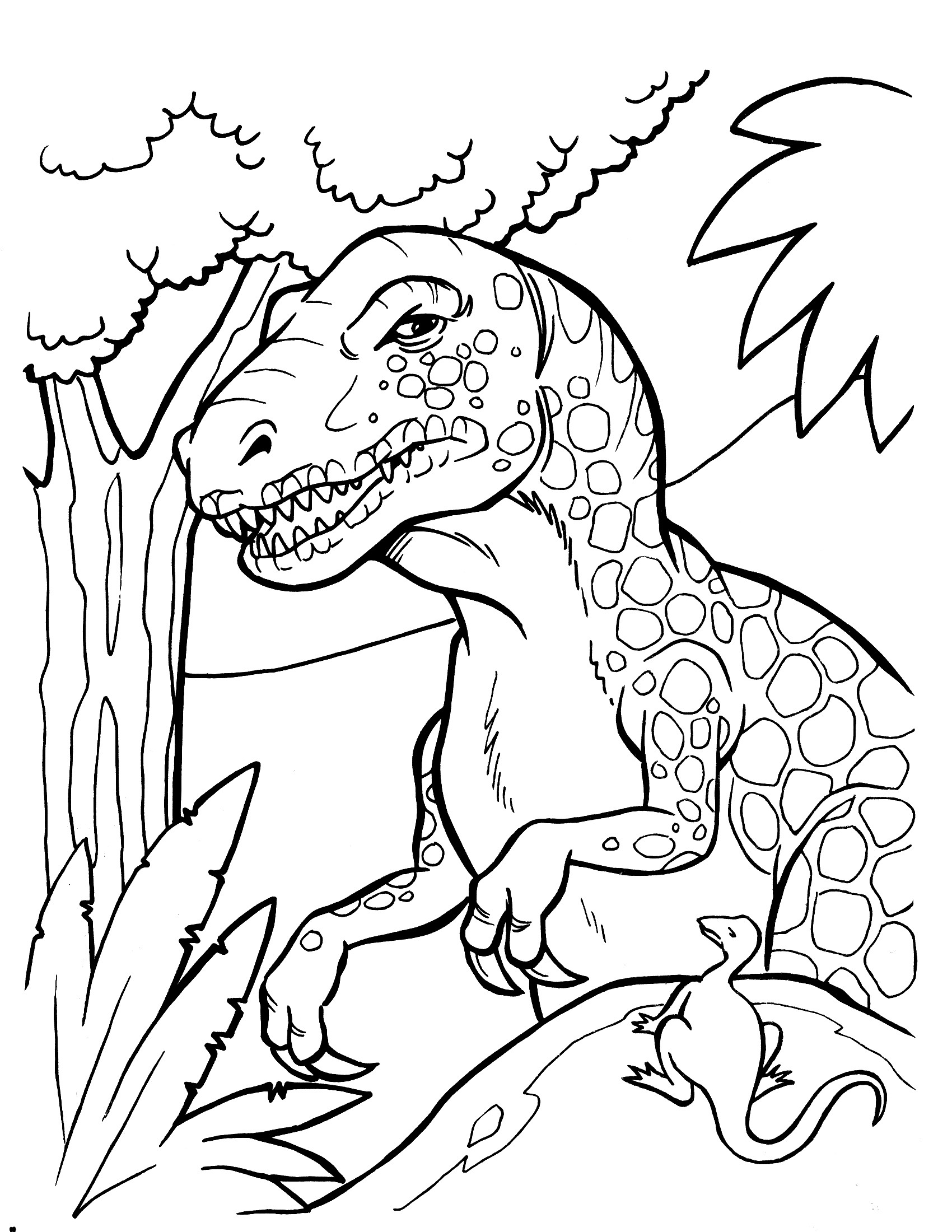 Free Coloring Sheets Dinosaurs  Dinosaur Coloring Pages