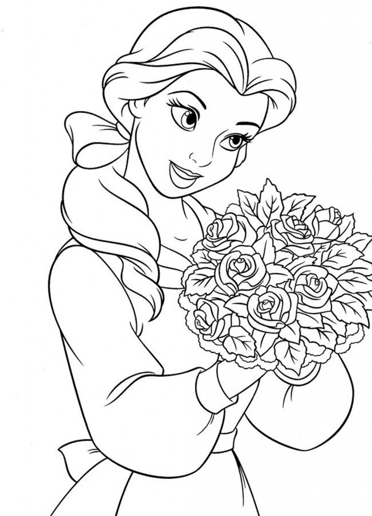 Free Coloring Sheets Disney  Free Printable Disney Princess Coloring Pages For Kids