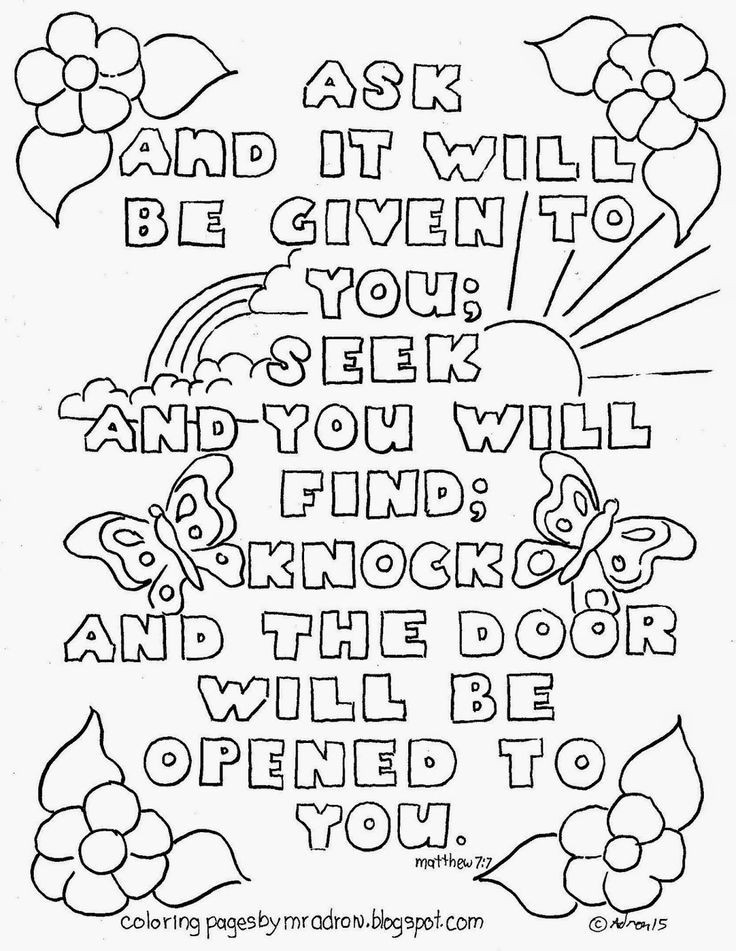 Best ideas about Free Coloring Sheets For Ages 2 To 4 Years Old For The New Testament . Save or Pin Bible Verse Matthew 7 7 Coloring page See more at my blog Now.