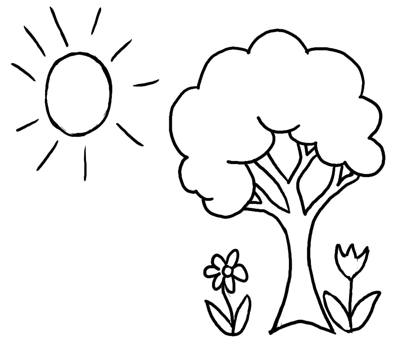 Free Coloring Sheets For Kids For Spring  Раскраски деткам Раскраски о весне скачать
