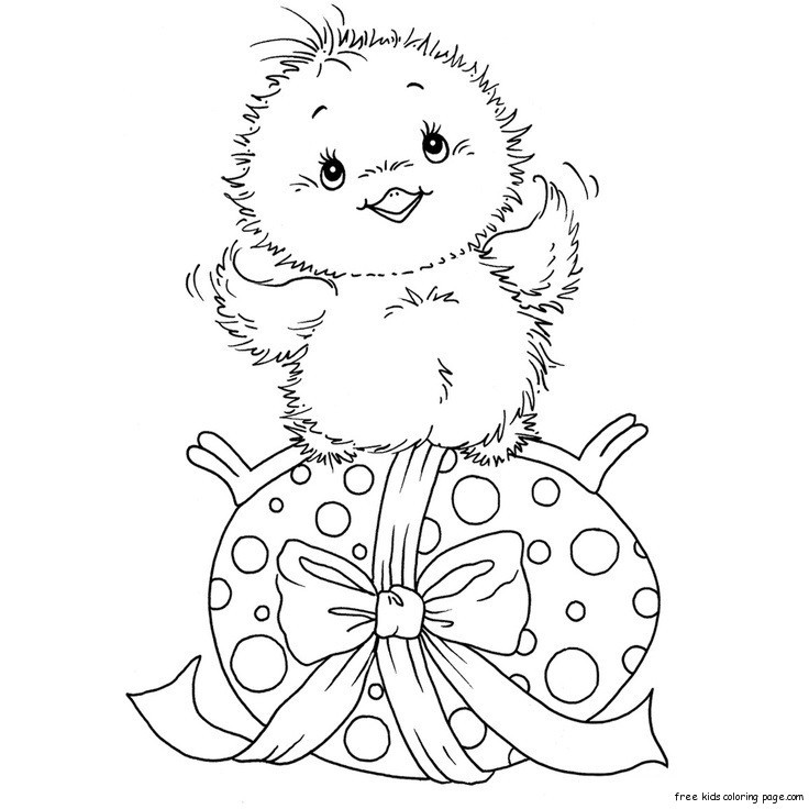 Free Coloring Sheets For Kids For Spring  Free Printable chicken and easter eggs coloring pagesFree