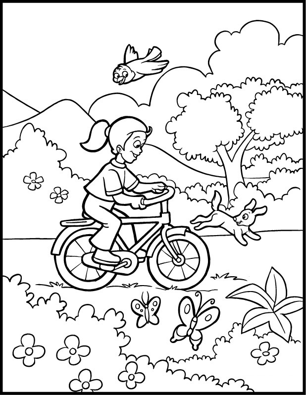 Free Coloring Sheets For Kids For Spring  Free Printable Spring Coloring Pages Coloring Home