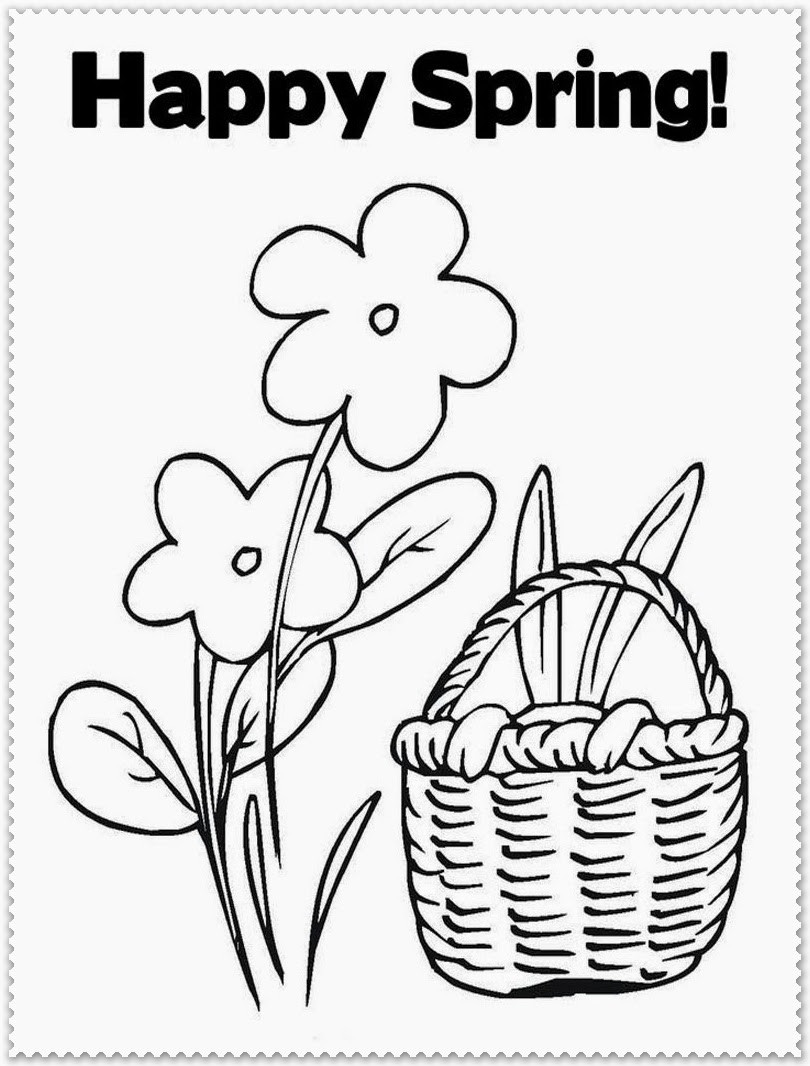 Free Coloring Sheets For Kids For Spring  Spring Coloring Pages Printable