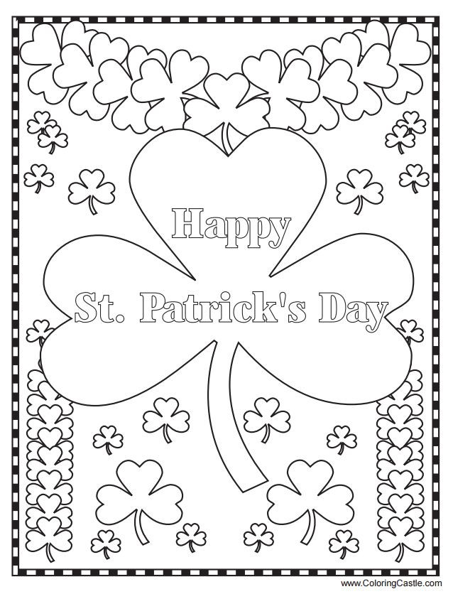 Free Coloring Sheets For Kids For St Patricks Day  271 Free Printable St Patrick s Day Coloring Pages