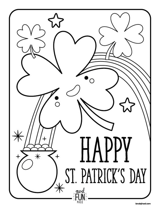 Free Coloring Sheets For Kids For St Patricks Day  12 St Patrick's Day Printable Coloring Pages for Adults