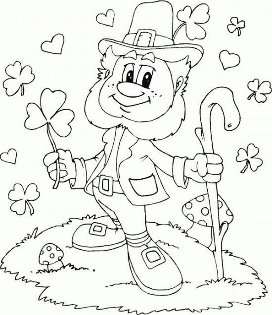 Free Coloring Sheets For Kids For St Patricks Day  Leprechaun Coloring Page C0lor