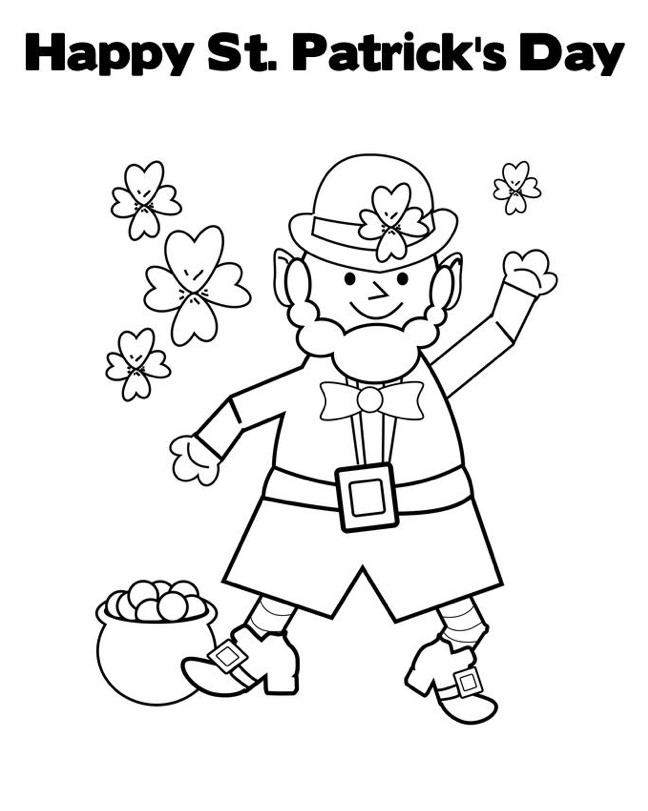 Free Coloring Sheets For Kids For St Patricks Day  St Patricks Day Coloring Pages Best Coloring Pages For Kids