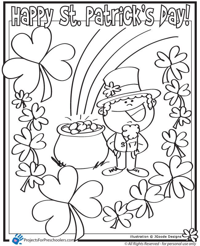 Free Coloring Sheets For Kids For St Patricks Day  Coloring Pages St Patricks Day AZ Coloring Pages