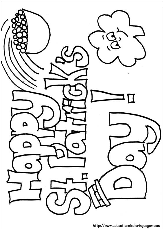 Free Coloring Sheets For Kids For St Patricks Day  St patricks day coloring pages