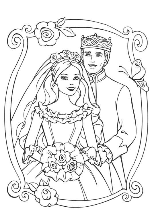 Best ideas about Free Coloring Sheets For Kids Kate Dicamillo Stories . Save or Pin Barbie Wedding Coloring Pages Now.