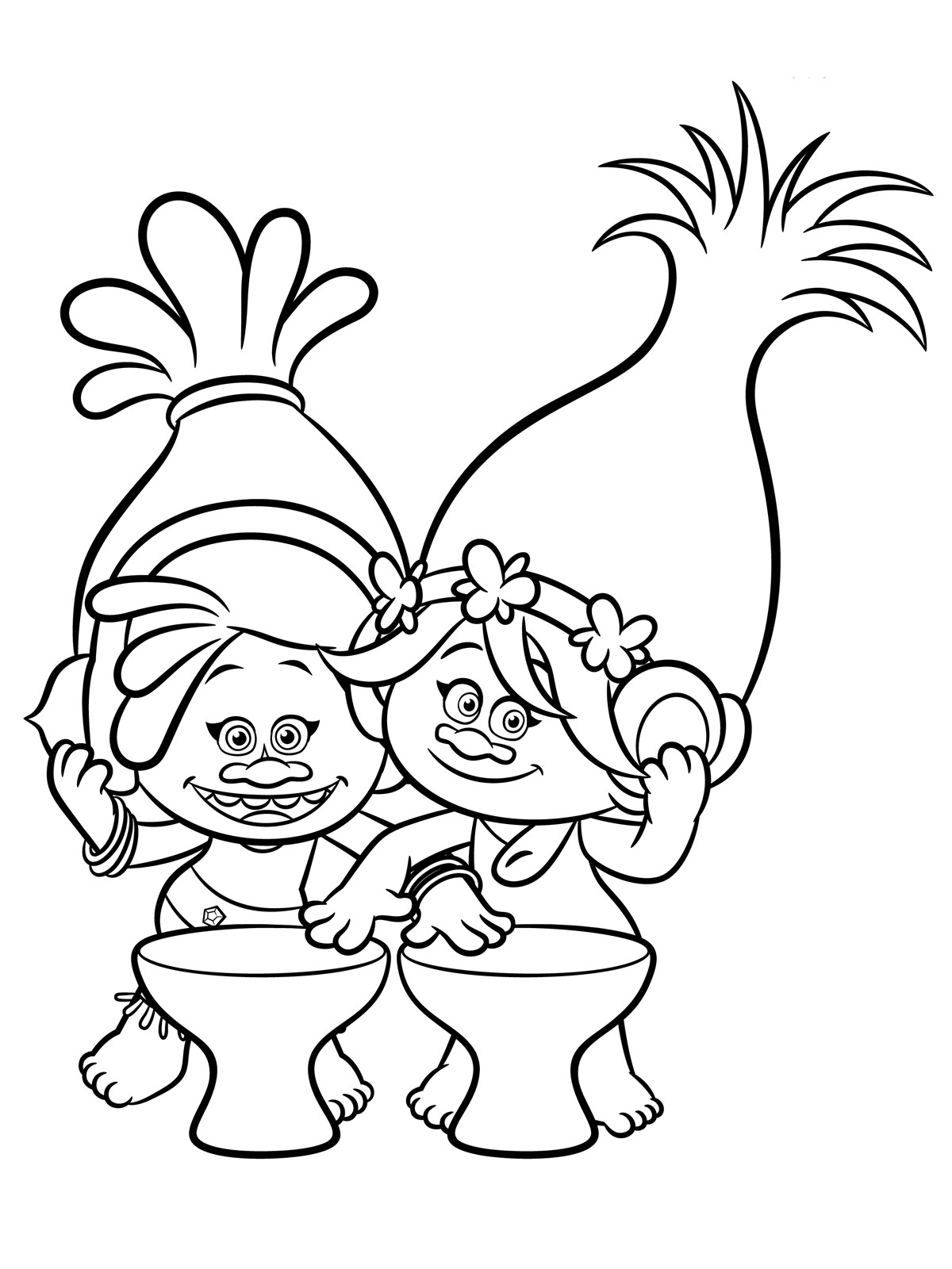 Free Coloring Sheets For Kids Trolls  Trolls Coloring pages to and print for free
