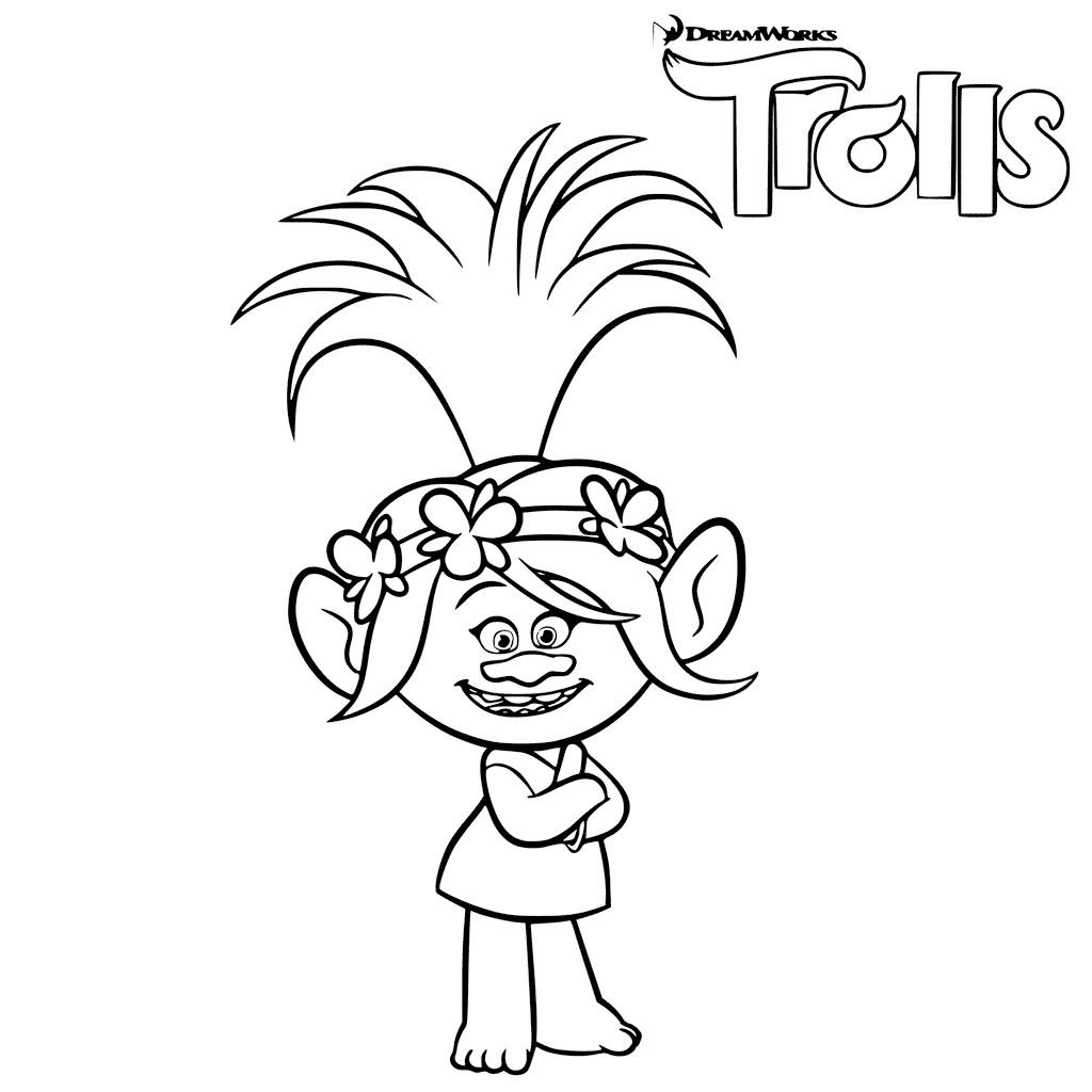 Free Coloring Sheets For Kids Trolls  Trolls Movie Coloring Pages Best Coloring Pages For Kids