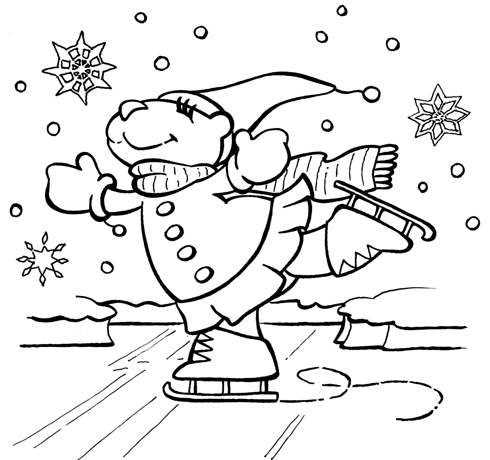Free Coloring Sheets For Kids Winter  Free Winter Coloring Pages For Kids
