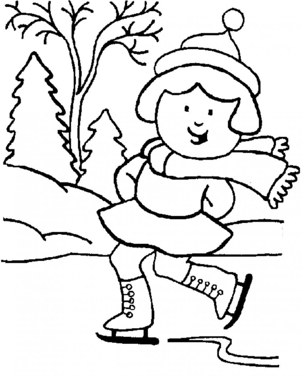 Free Coloring Sheets For Kids Winter  WINTER COLORING PAGES Coloring Pages