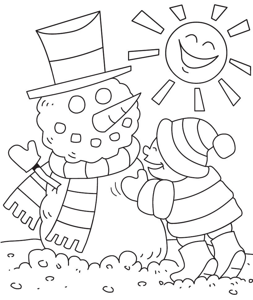 Free Coloring Sheets For Kids Winter  Free Printable Winter Coloring Pages For Kids