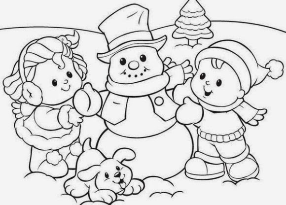 Free Coloring Sheets For Kids Winter  Coloring Pages Winter Coloring Pages and Clip Art Free