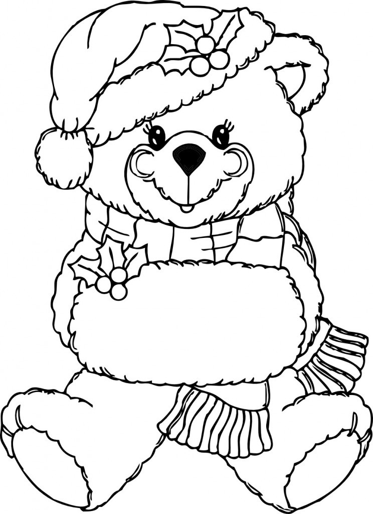 Free Coloring Sheets For Toddlers  Free Printable Teddy Bear Coloring Pages For Kids