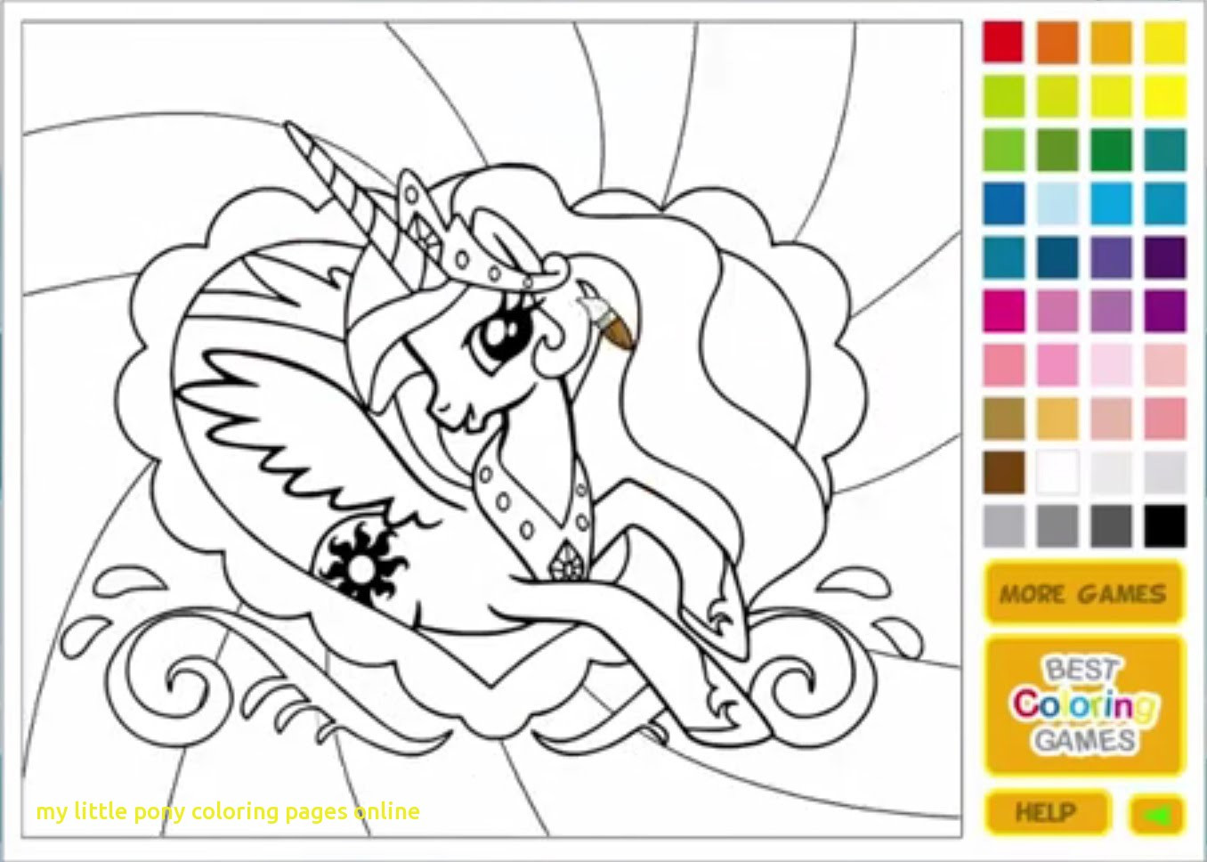 Free Coloring Sheets For Toddlers  My Little Pony Coloring Pages line