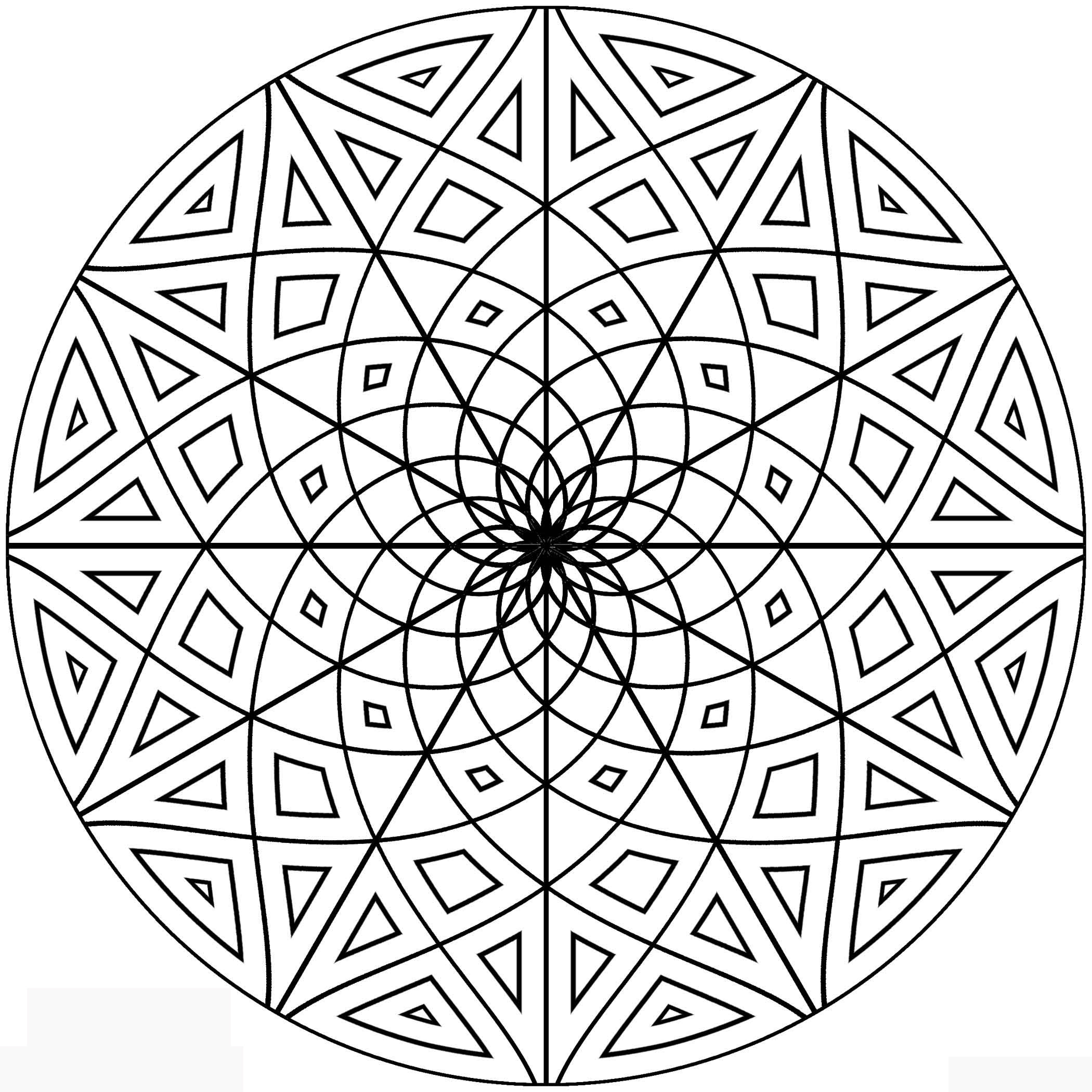 Free Coloring Sheets  Free Printable Geometric Coloring Pages for Adults