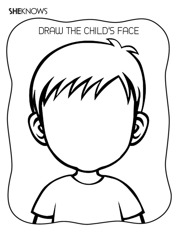Free Coloring Sheets Of A Blank Face For Kids  Create the Face Page Free Printable Coloring Pages